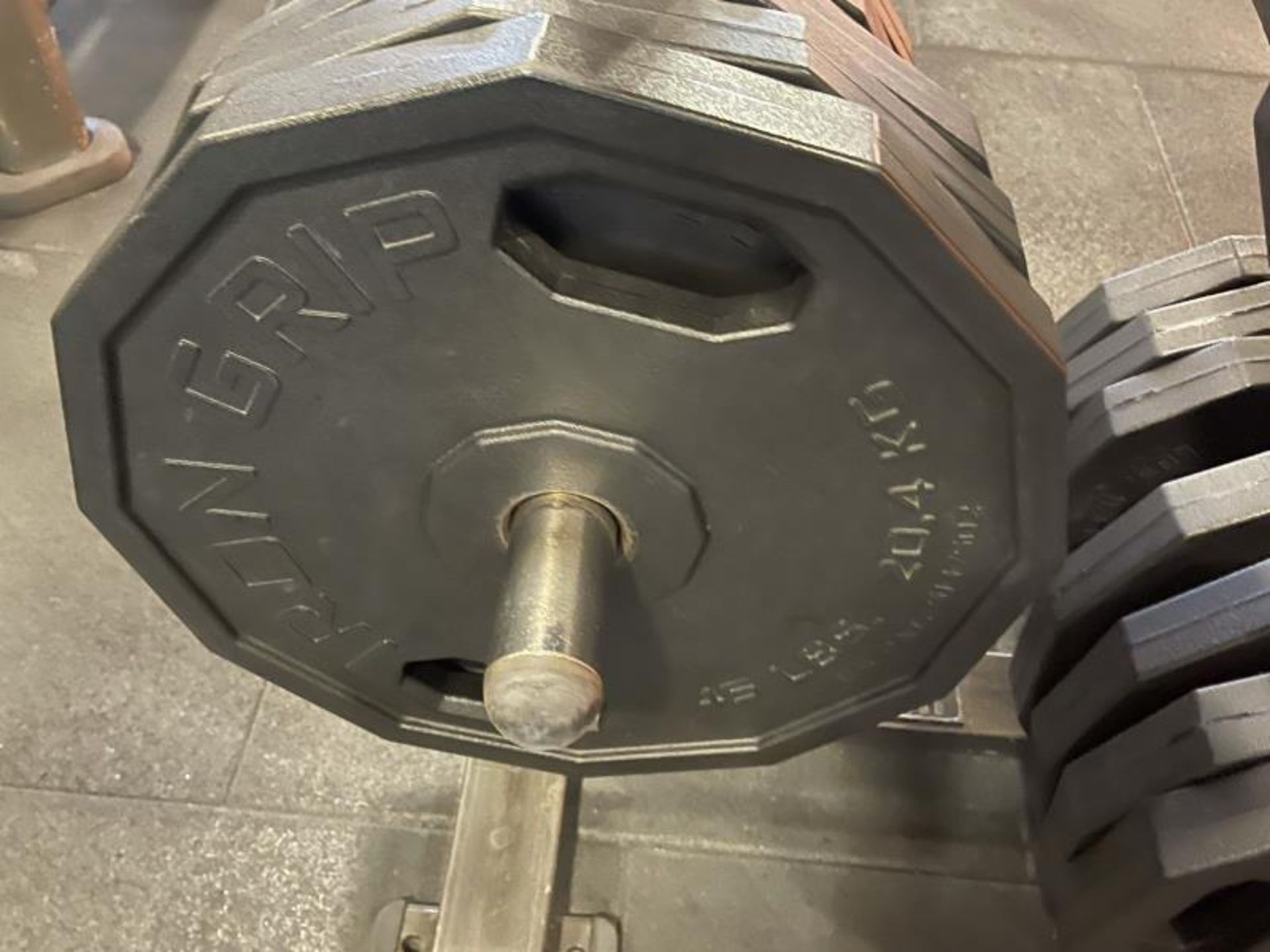 Hammer Strength Rack with 26 Iron Grip Weighted Plates - Image 3 of 5