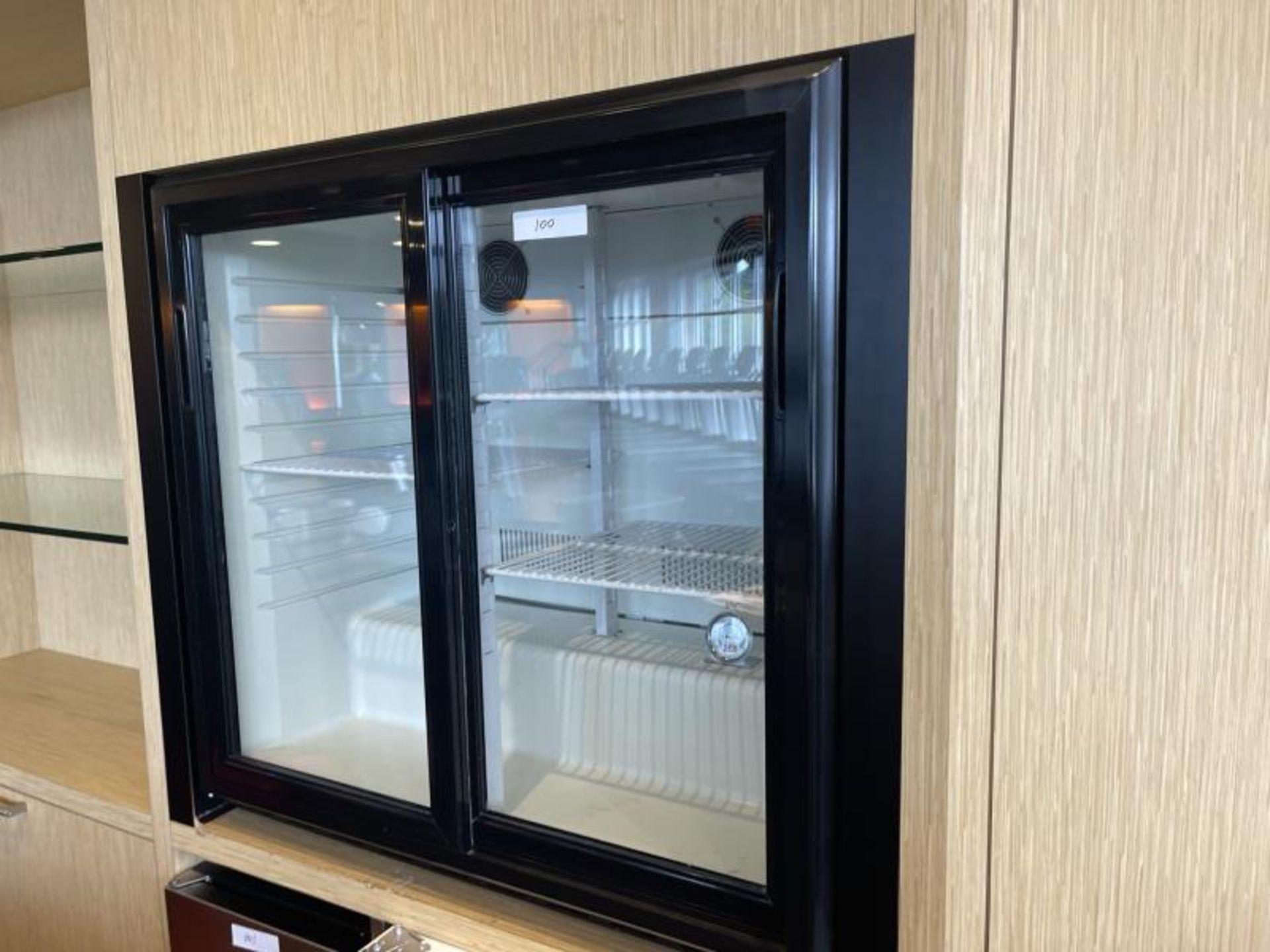 Sliding Glass Door Refrigerator, Countertop