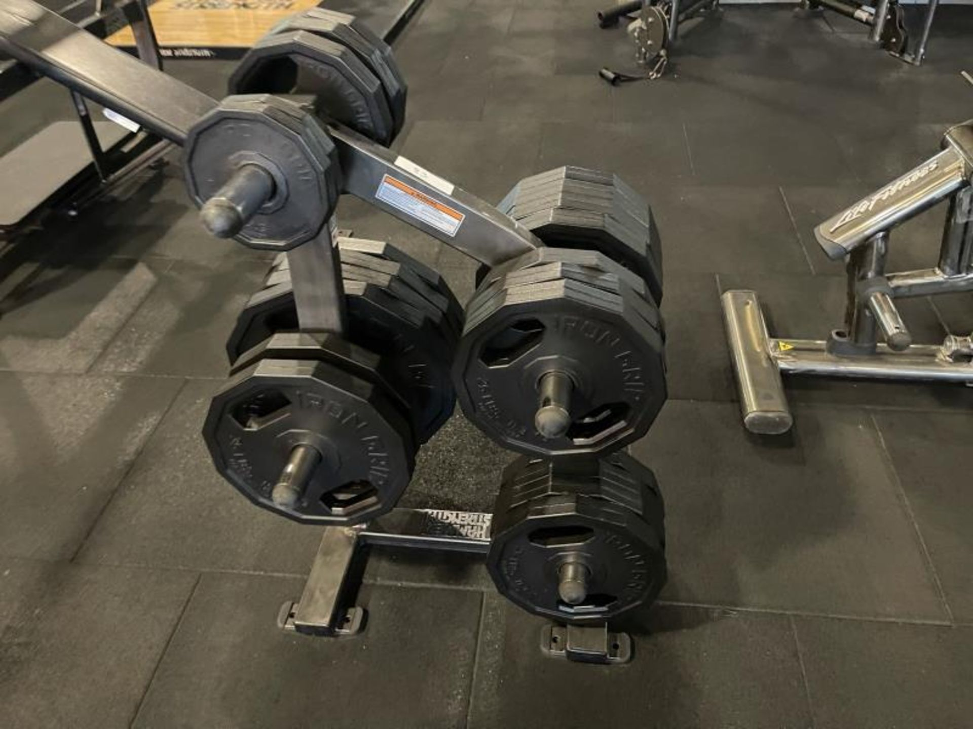Hammer Strength Weighted Tree with Iron Grip Weight Plates