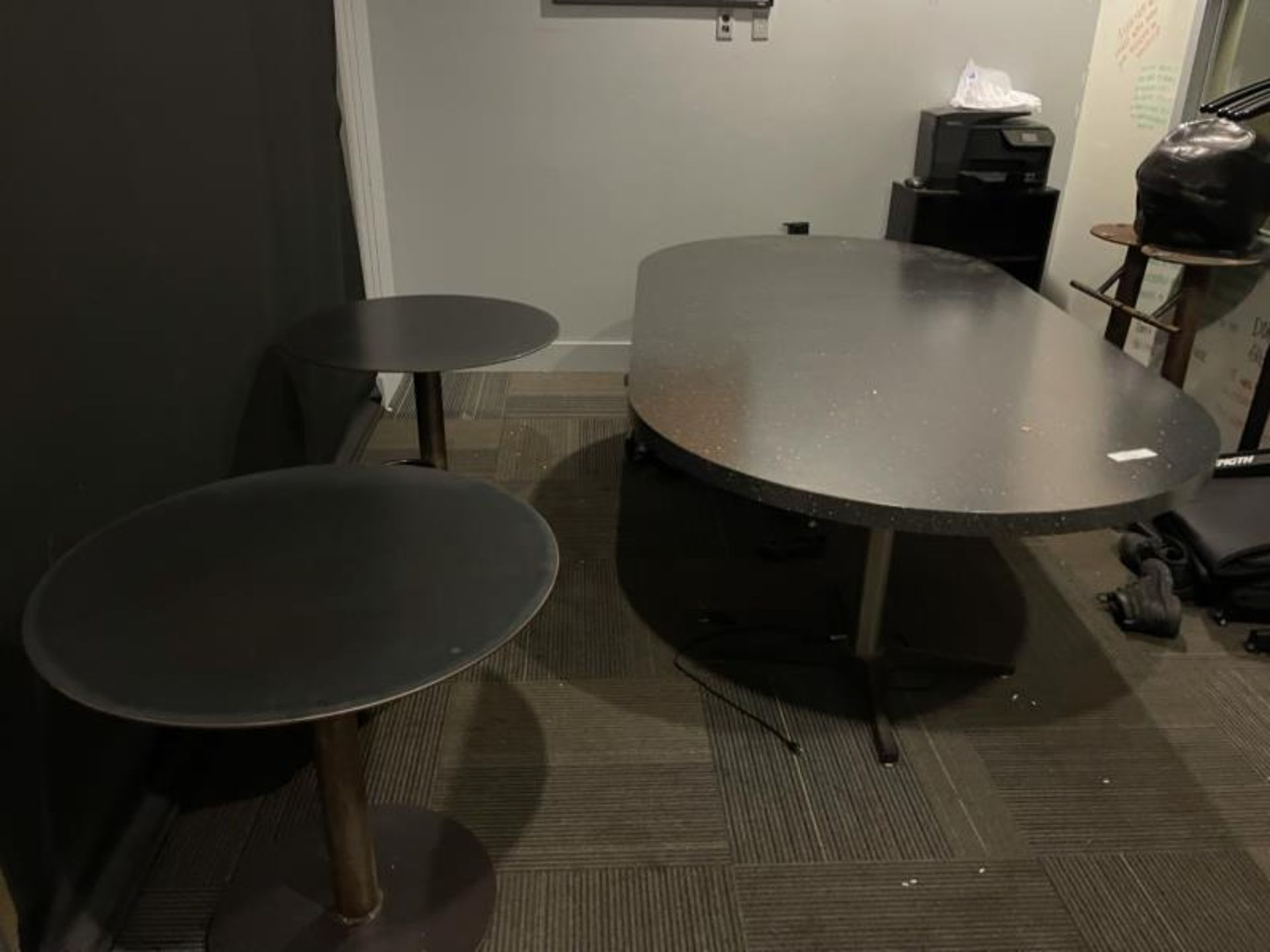 8' Lamintae Confrence Table w/ (2) Steel Table - Image 2 of 3