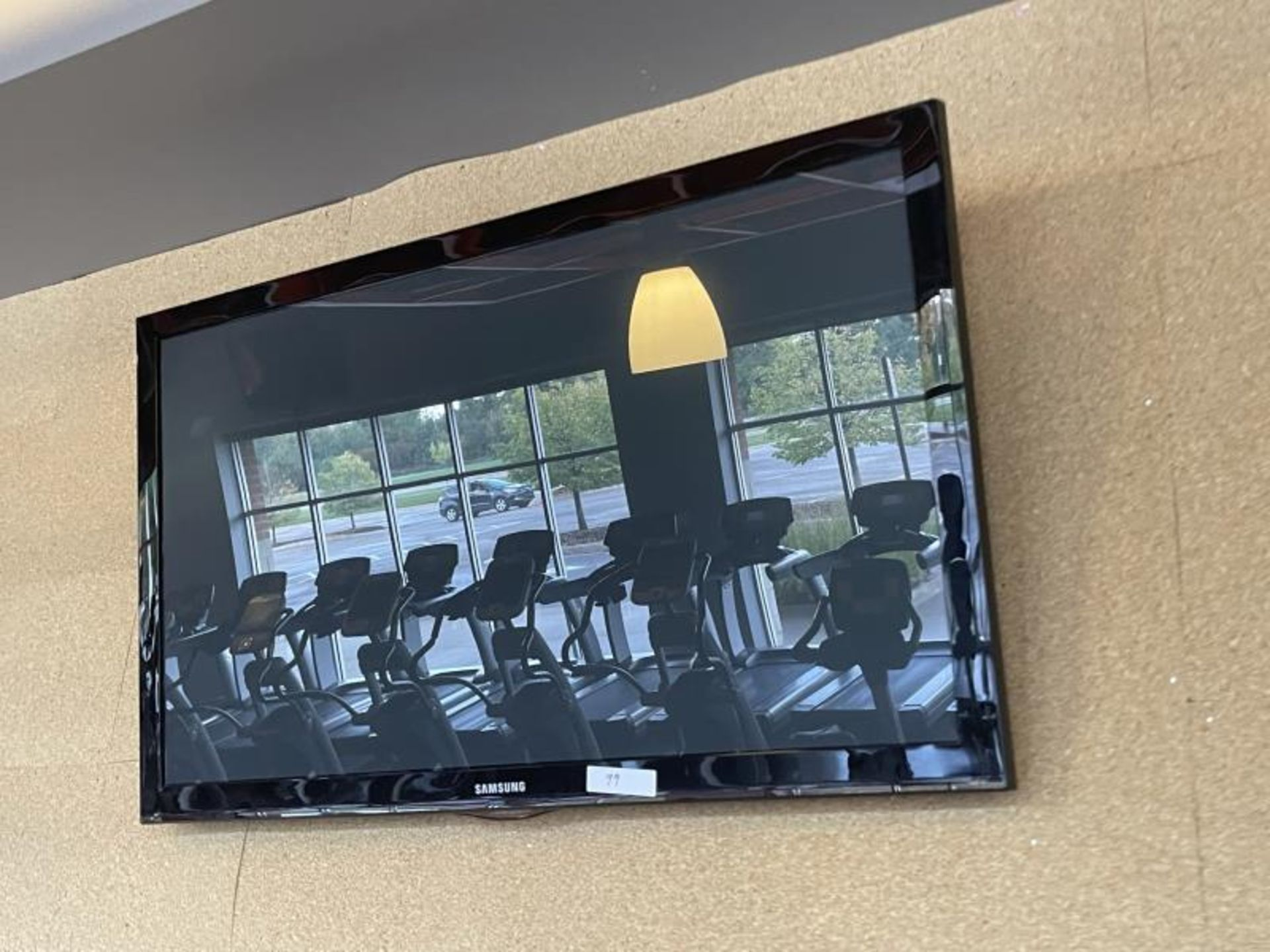 """Lot of (9) Samsung Flat Panel TV, approx. 48"""" Wall Hung"""