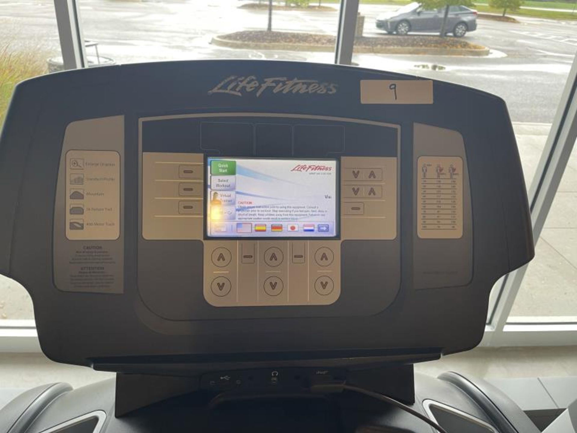 Life Fitness Treadmill M: 95T with Flex Deck, Shock Absorption System SN: TET106305 - Image 2 of 2