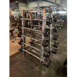 Hammer Strength A-Frame Rack with 10 Iron Grip Bars, 20-110#m M: FWBAR-A