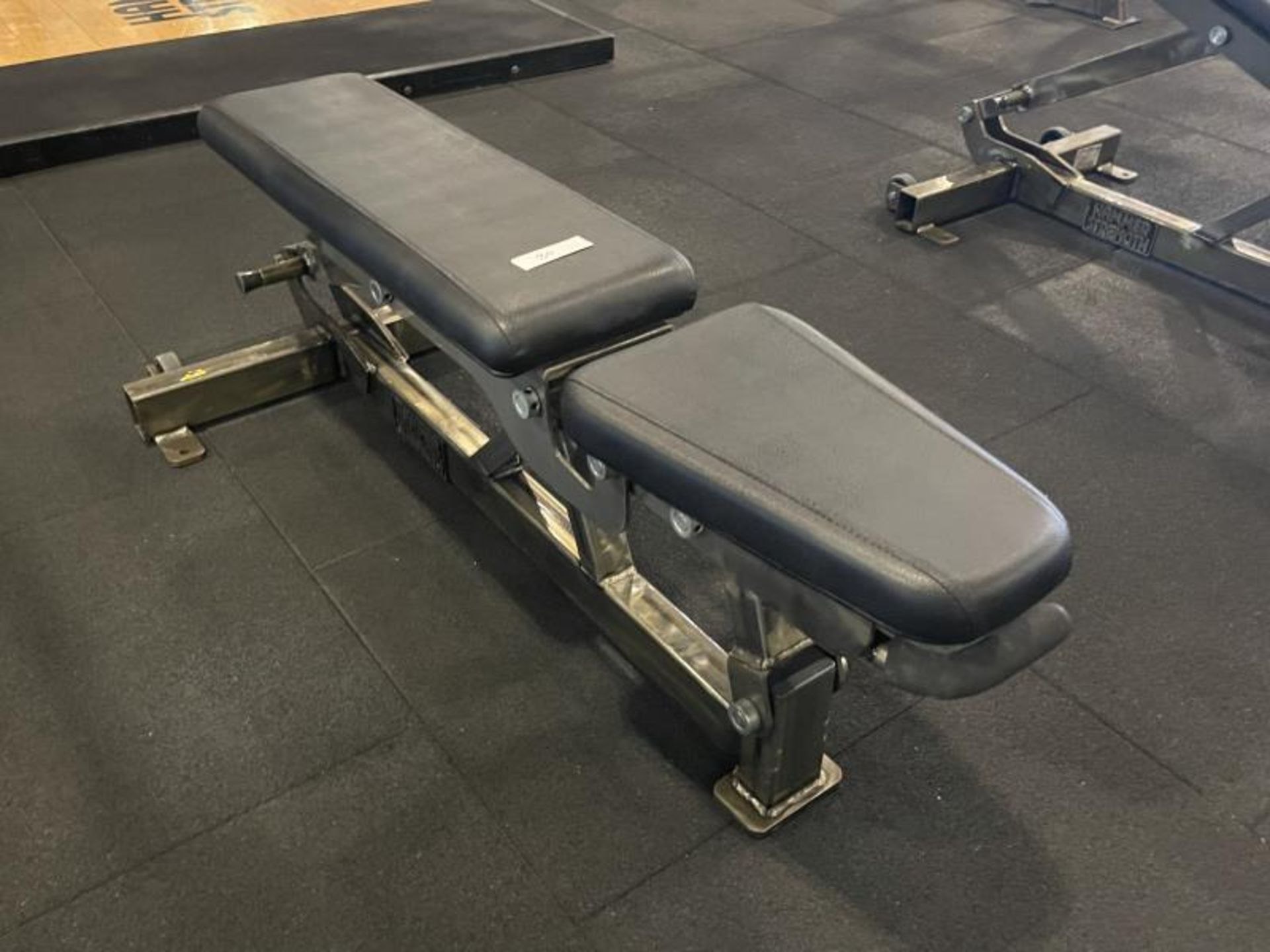 Hammer Strength Adjustable Bench with Torn Vinyl - Image 3 of 3