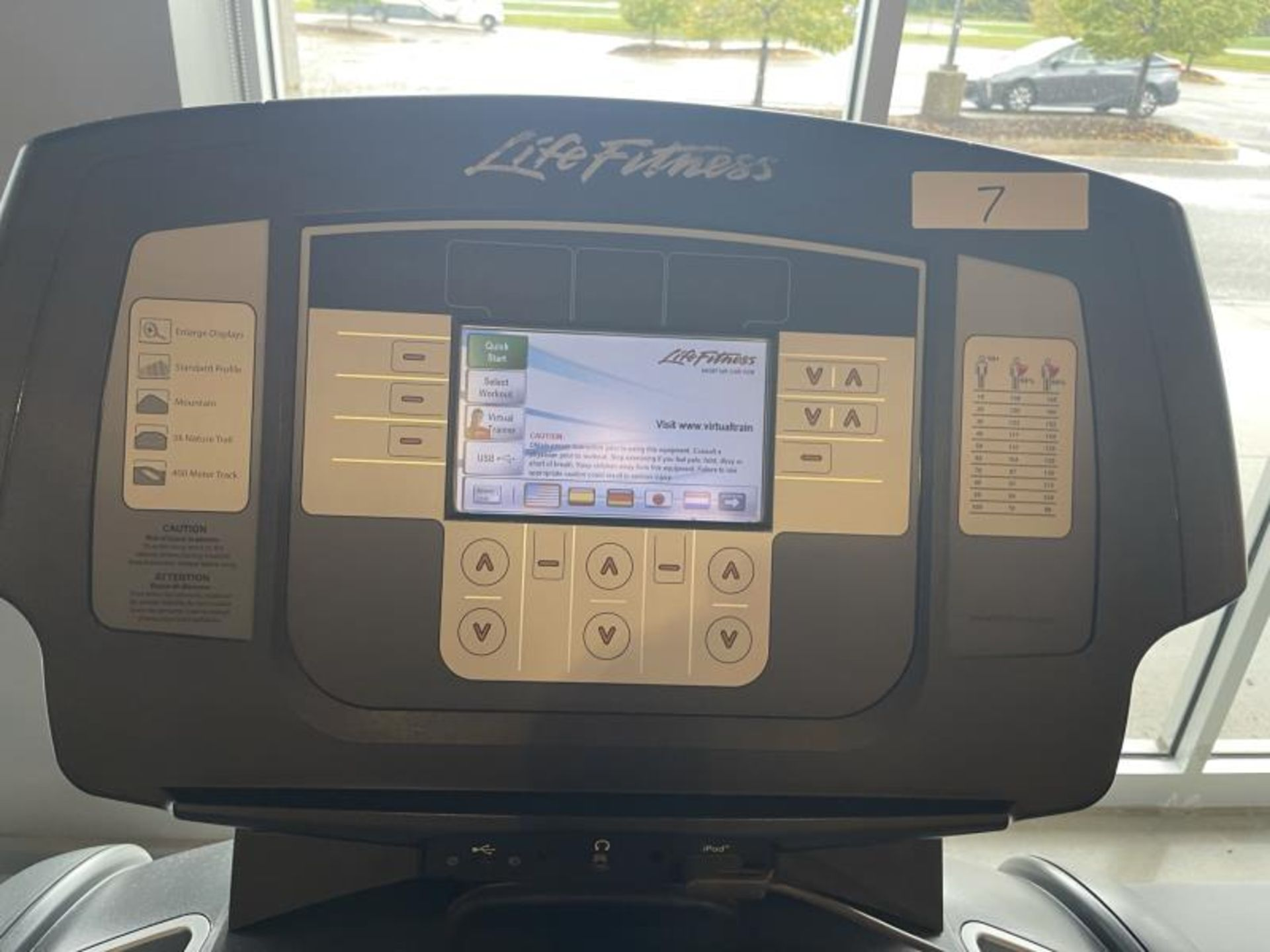 Life Fitness Treadmill M: 95T with Flex Deck, Shock Absorption System SN: TET107099 - Image 2 of 2