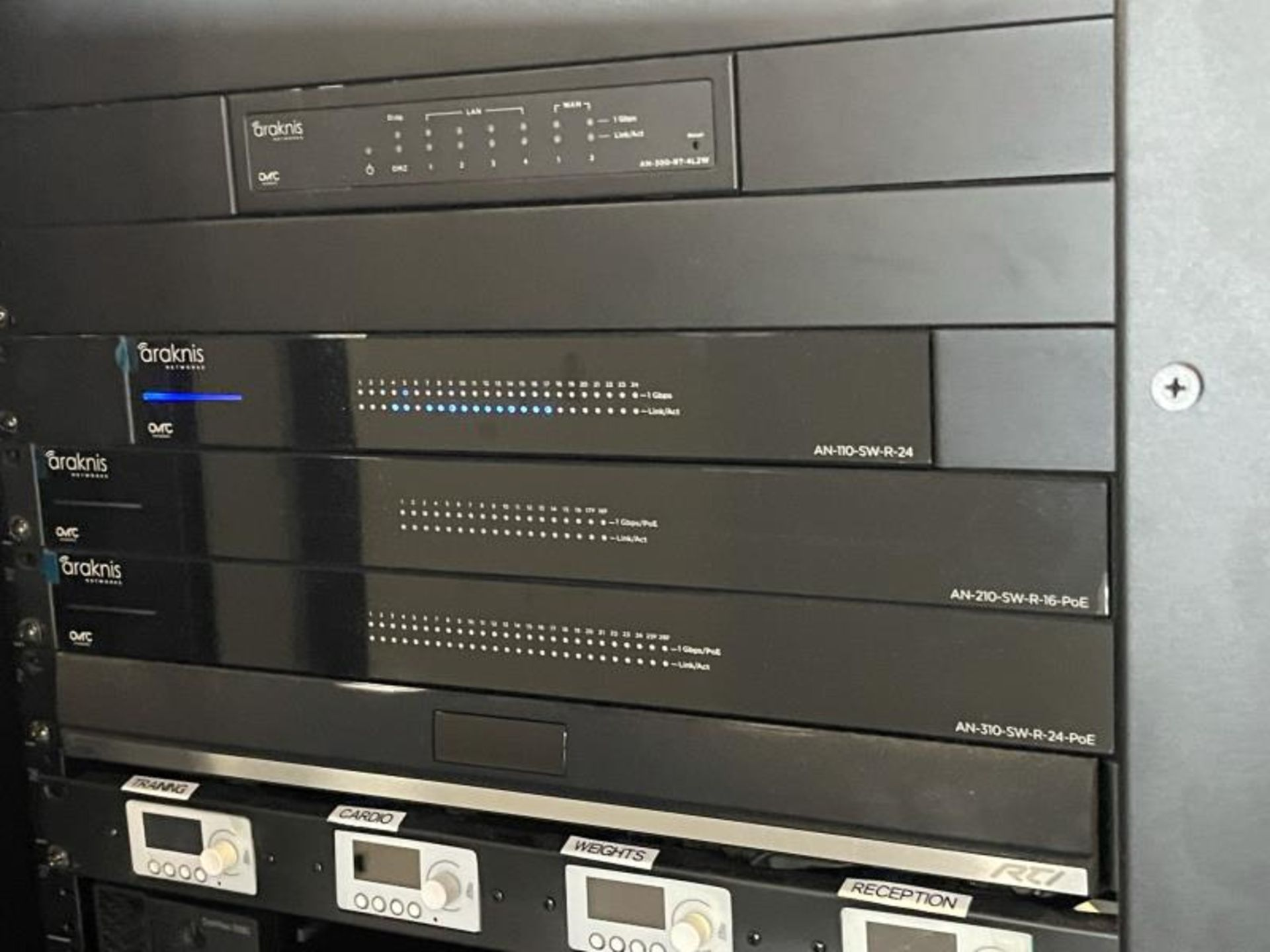 Electornics Cabinet by Strong , Made 2018 w/ Luma Network Box, OVRC Enabled LUM-500-DVR-16CH, (2) Wa - Image 6 of 18