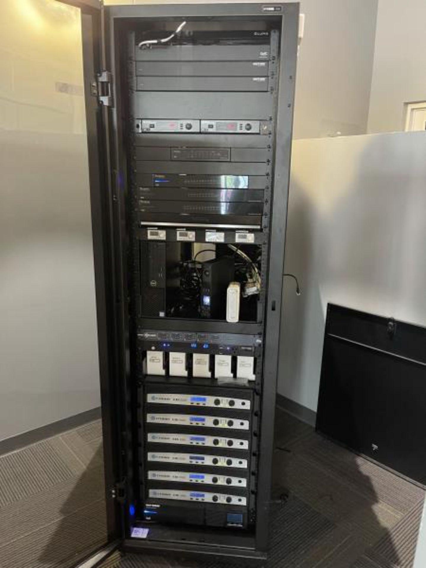 Electornics Cabinet by Strong , Made 2018 w/ Luma Network Box, OVRC Enabled LUM-500-DVR-16CH, (2) Wa