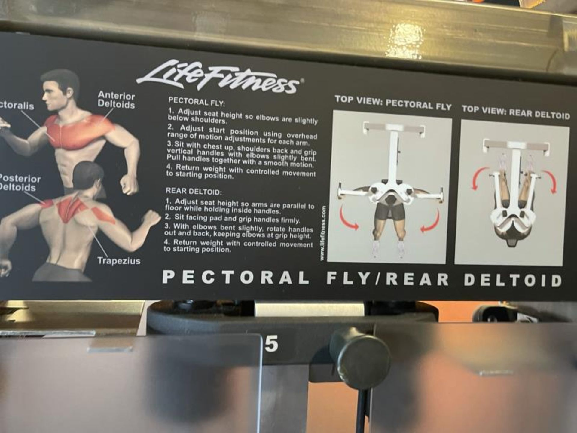 Life Fitness Pectoral Fly/Rear Deltoid M: PSFLYSE - Image 3 of 6