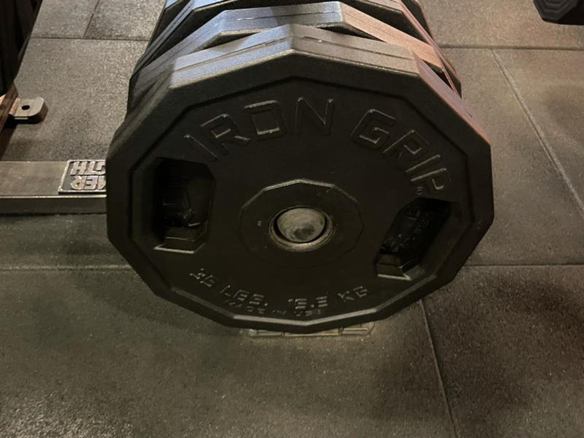 Hammer Strength Rack with 26 Iron Grip Weighted Plates - Image 4 of 5