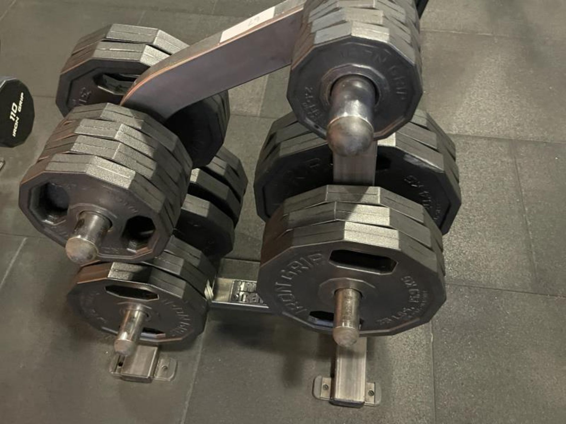 Hammer Strength Rack with 26 Iron Grip Weighted Plates - Image 5 of 5