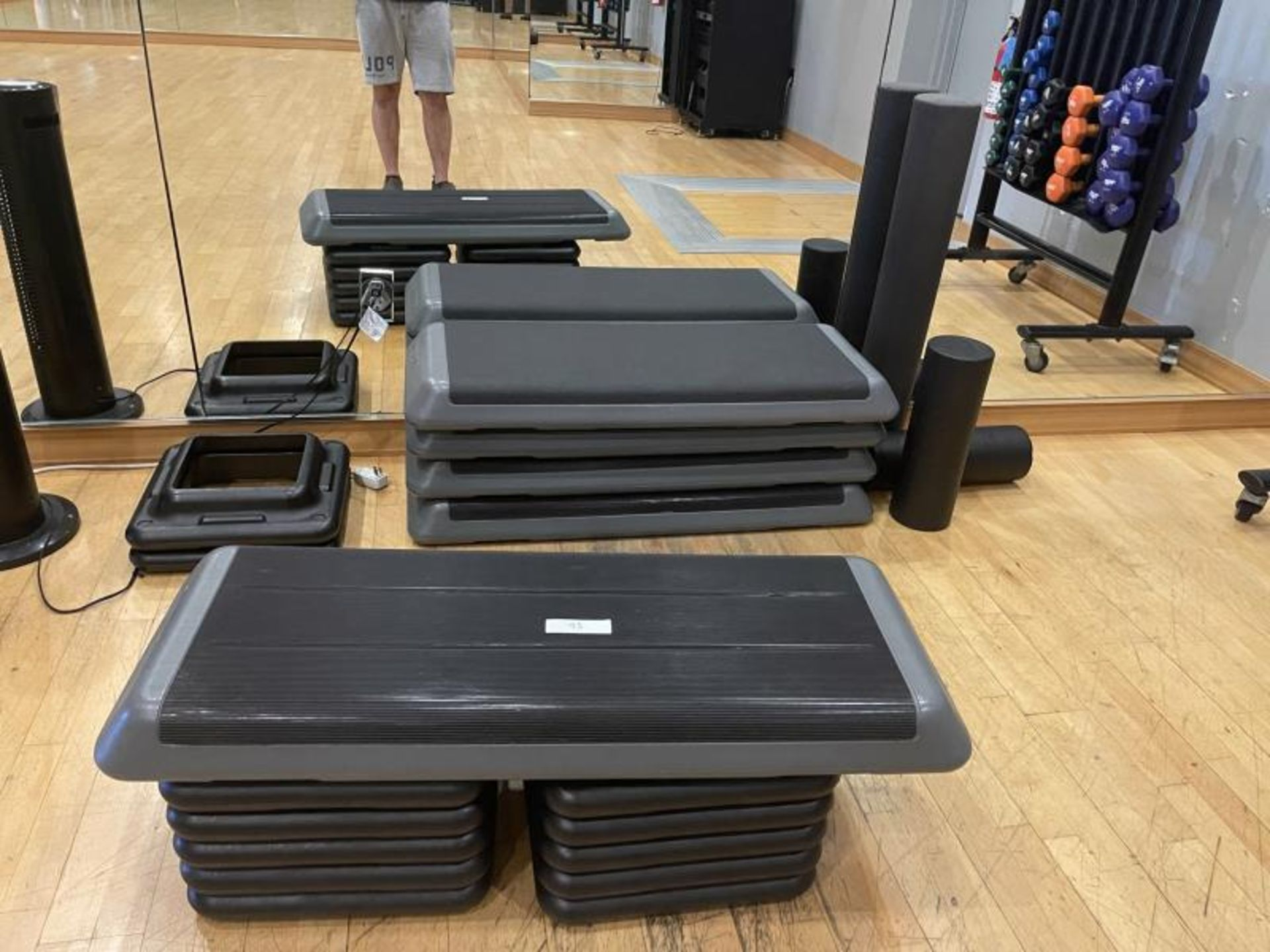 Group of Exercise Steps & Foam Tubes