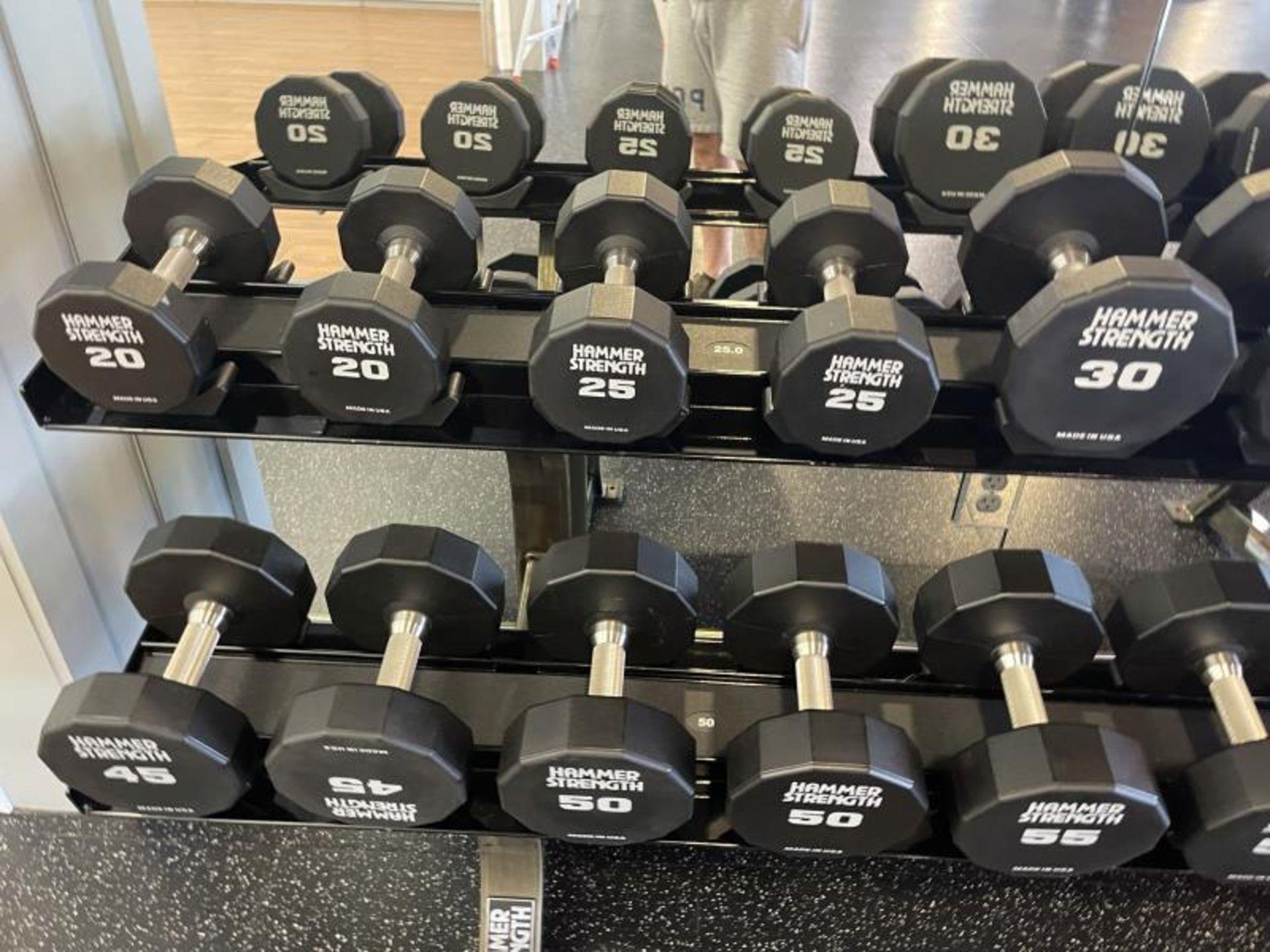 Hammer Strength Dumbbells 20-65# - Image 4 of 6