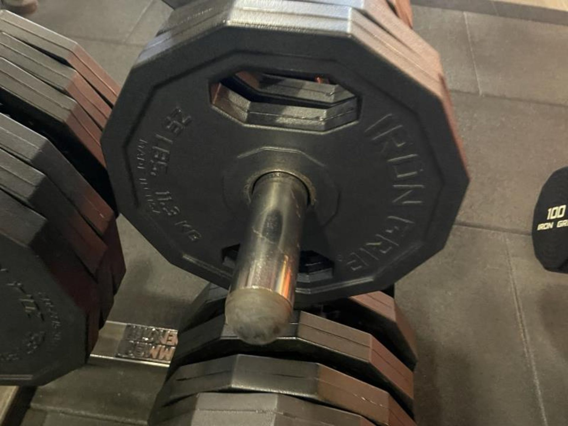Hammer Strength Rack with 26 Iron Grip Weighted Plates - Image 2 of 5