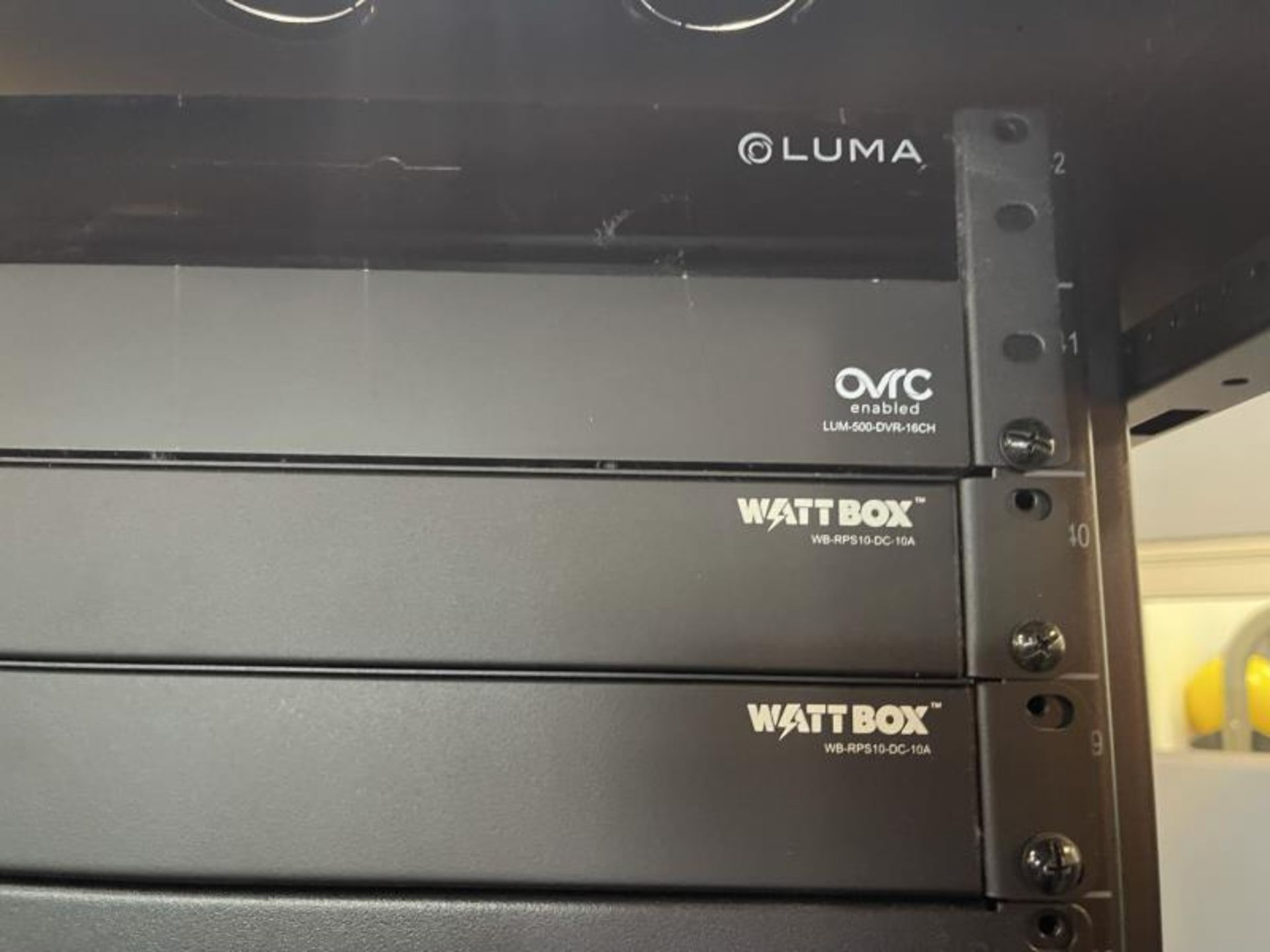 Electornics Cabinet by Strong , Made 2018 w/ Luma Network Box, OVRC Enabled LUM-500-DVR-16CH, (2) Wa - Image 3 of 18