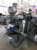 "Bridgeport 1 1/2 HP Variable Speed Vertical Mill, SN 12BR138325, 9"" x 42"" Table, Sony Millman 2-Axis"