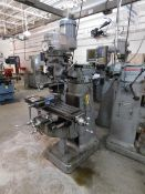 "Bridgeport 1 1/2 HP Variable Speed Vertical Mill, SN 12BR138314, 9"" 42"" Table, Acu-Rite, 2-Axis"