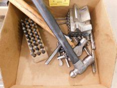 Misc. Hammers, V-Block, Letter Stamps, etc