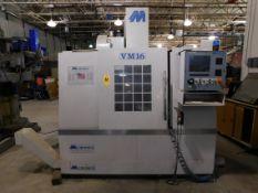 """Milltronics Model VM16 Vertical Machining Center, SN 7803, Mfg. Date 0340, 16"""" x 45"""" Table, 16"""