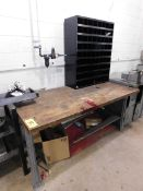 Workbench with Metal Cabinet