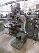 "Bridgeport Step Pulley Vertical Mill, SN BR32917, 9"" x 42"" Table, Bridgeport Shaping Attachment,"