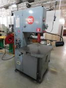 "Grob Model 4V-18 Metal Cutting Vertical Bandsaw, SN 4780, New in 1985, Blade Welder, 18"" Throat"