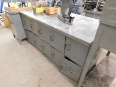 """Steel Bench with Lockers, 34"""" x 72"""""""