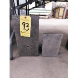 """(2) Angle Plates, 7"""" W x 14"""" H x 8"""" D and 6"""" W x 9"""" H x 7.5"""" D"""