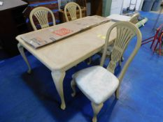 """Dining Room Table and (4) Chairs, 44"""" x 68"""" Table Size"""