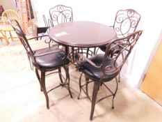 High Top Table and (4) Chairs