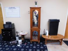 Cabinet with Glass Front and Sides, Coffee Table, Cabinets, etc.