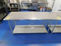 """Stainless Steel Table, 30"""" x 72"""" x 35"""" H"""