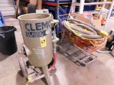 Clemco Model 1648 Portable Sand Blast Machine with Hose, Gun and Helmet