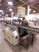 "Hyd-Mech Model V-18APC Tilt Frame Vertical Band Saw, s/n K0497065, 18"" X 20"" Capacity, PLC500"
