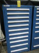 "Stanley Vidmar 11-Drawer Parts Cabinet, 30"" W X 28"" D X 59"" High"