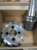 "8"" Carbide Insert Face Mill and BT50 End Mill Holder"