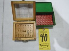 """(2) Pin Gage Sets, .011"""" - .060"""", (1) Plus and (1) Minus"""