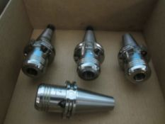 (4) Schunk Cat 40 Tool Holders, 20 MM
