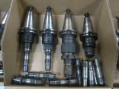 (4) Cat 40 Tap Collet Holders with Tap Collets