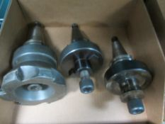 "Cat 40 Face Mill, 5"" Diameter and (2) Cat 40 Face Mill Holders"