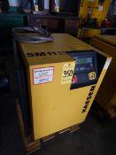 Kaeser Model SM11 Rotary Screw Air Compressor, s/n 1.9623.80010.1161, 10 HP, 42 CFM, Sigma PLC