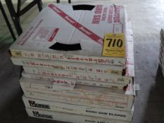 """Bandsaw Blades, (2) 10'9"""" X 1"""" X 14, (2) 12' X 1 1/4"""" X 6/10, (2) 11'6"""" X 1"""" X 8, and"""