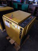 Kaeser Model SM11 Rotary Screw Air Compressor, s/n 01115938, 10 HP, 48 CFM, , New 1997, 9,351 Hours