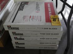 """Bandsaw Blades, (2) 13'3"""" X 1"""" X 8/12, (2) 13'6"""" X 1.360"""" X 6/10, (2) 10'9"""" X 1"""" X 14, and (2) 9'"""