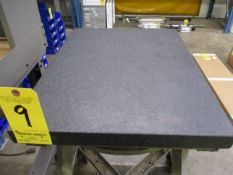 "Granite Surface Plate, 2-Ledge, 18"" X 24"" X 4"", with Stand"