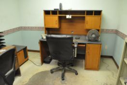 Lot, (3) Desks, (2) Chairs, (1) File Cabinet and (1) CD Cabinet in (1) Office