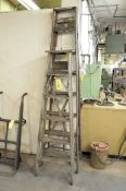 (1) 8' and (1) 6' Wooden Step Ladders