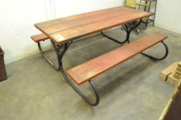 6' Picnic Table with (1) Chair and (1) Shop Stool