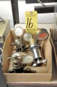 Lot, Oxygen/Acetylene Gauges in (1) Box