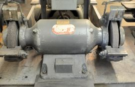 """Dayton Cat. 2Z342, 8"""" x 1-HP Double End Bench Top Grinder, 3-Phase, Must be Unbolted from stand,"""