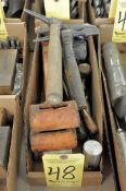 Lot,Slag, Sledge and Dead Blow Hammers in (1) Box